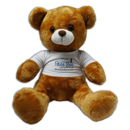 Persoanlised Page Boy 30cm Plush Soft Toy Bear